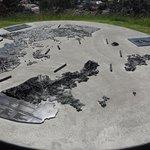 sculpure of map