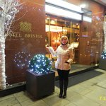 IN FRONT OF ENTRANCE OF HOTEL BRISTOL, DECEMBER 2013.