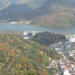 View of Kinosaki from the top of the ropeway station.