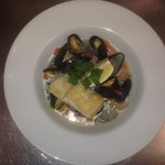 Smoked Haddock Pot au Feu Steamed served with Mussels & Prawns in a Vegetable Broth