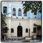 Restaurant indoor courtyard