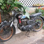 Old British BSA motorcycle