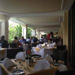 The Veranda of the restaurant by the pool