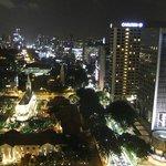 Fairmont Singapore, вид с лоджии