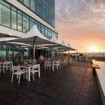 Hotel deck area
