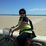 en la playa Malvarrosa