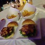 Yum!! Texas burger and bacon cheese burger!!