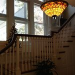 The beatiful staircase to most of the bedrooms