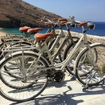 Some free to use bicycles of the hotel