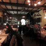 Inside restaurant including bandit