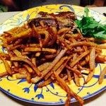 Les frites maison et le filet de bœuf