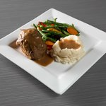 """Our special blended meatloaf with mashed potatoes exemplifies """"comfort food"""""""