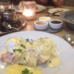Breakfast at the Lobby - eggs benedict