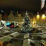 View of Christmas Tree in Old Town Square