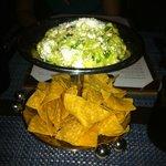 Fresh guacamole with nachos