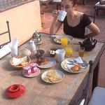 Breakfast in the sun on the roof terrace