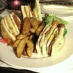 the most amazing club sandwich EVER from the Al Khayyam bar