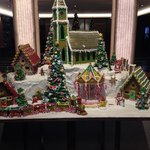 Edible Christmas display in reception