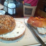 cream layered bagels