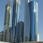 Högt och supermoderna torn.