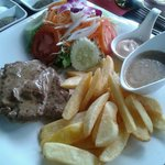 pork steak mit peppersauce