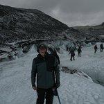 Solheimajokull glacier hike near south coast of Iceland: Dec 2013