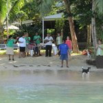 Leaving Matangi, staff was singing goodbyes