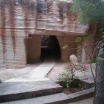 passaggio interno nella cava