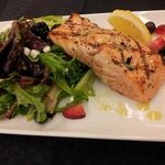 Grilled Salmon & Greens - Candied Walnuts, fresh berries, goat cheese, citrus vinaigrette