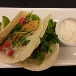 Fish Taco (2) - Marinated basa with flour tortilla shells