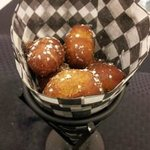 Cinnamon Bites - Dusted with icing sugar and cinnamon with fresh squeezed lemon - Yummy!