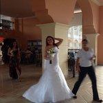 Random bride in breeze way