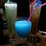 I think the blue one was called kamikaze. We called it a smurf in a glass.