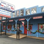 outside the willie nelson museum