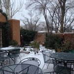 Beautiful courtyard in the snow!