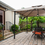 Shiraz's private garden and gazebo