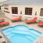 Solar heated splash pool