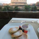 Restaurant at breakfast