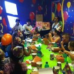 This is my little daughter's Birthday at Rainbows End in The Incredible Room
