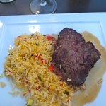 My steak and rice.  Very delicious
