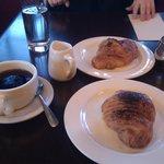 Coffee, almond and chocolate