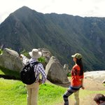 learning why the Inka people choose this place to build Machu Picchu