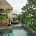 loft villa has its own private infinity pool / worth the upgrade to these rooms!