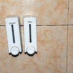 empty soap dispenser