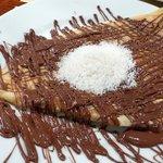 Attractive Nutella crepe at Creperie Suzette
