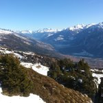 Crans-Montana - on the way to Les Violettes by gondola-lift