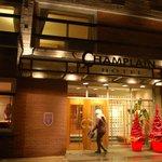 Entrada do hotel Le Champlain
