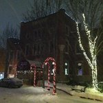 Snowy night at the Portland Regency Hotel & Spa
