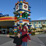 My kids were so excited for our surprise trip to the Legoland Hotel!