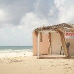 Beach and smassage hut